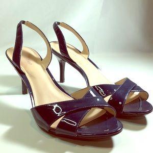 Calvin Klein 3 inch heels Sz 8 1/2 navy blue